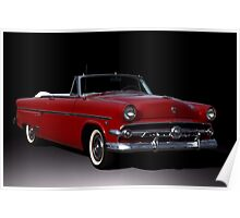1954 Ford Crestline Convertible Poster