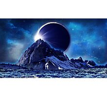 Mountain Eclipse Photographic Print