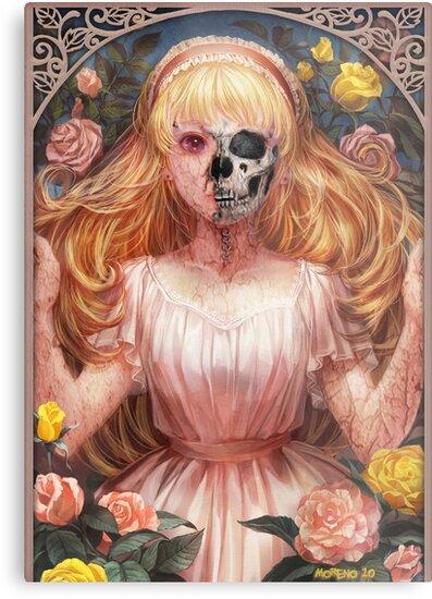 Little Zombie Girl in Garden by johnnymoreno