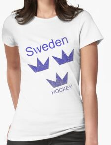 Sweden Hockey Womens Fitted T-Shirt