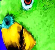 green bird by James E. Thomas