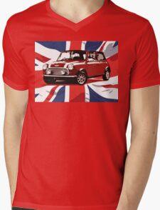 Cool Britannia Austin Mini  Mens V-Neck T-Shirt