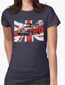 Cool Britannia Austin Mini  Womens Fitted T-Shirt