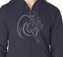 A Sliver Wind Zipped Hoodie