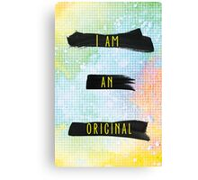 I Am An Original - Colorful Background Canvas Print