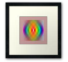 Rainbow spiral Framed Print