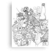 dinosaurs in the soda Canvas Print