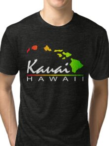 Kauai Hawaiian Islands (vintage distressed design) Tri-blend T-Shirt