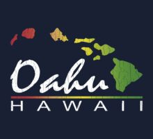 Oahu Hawaiian Islands (vintage distressed designs) Kids Clothes