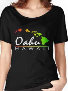 Oahu Hawaiian Islands (vintage distressed designs) Women's Relaxed Fit T-Shirt