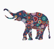 Colorful Floral Elephant 2 by artonwear
