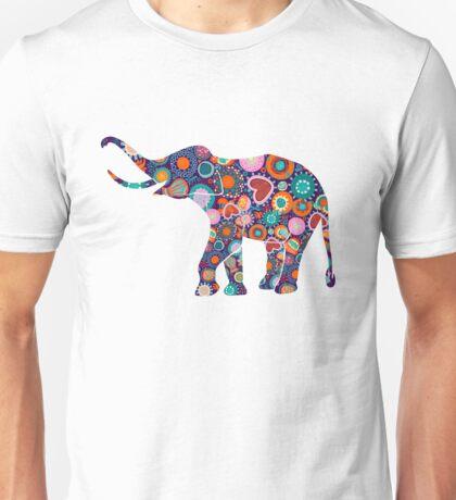 Colorful Floral Elephant 2 Unisex T-Shirt