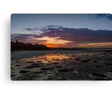 Binstead Beach Reflections Canvas Print