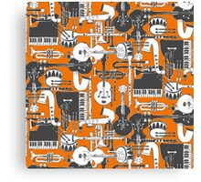 weave jazz orange Canvas Print