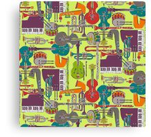 weave jazz multi Canvas Print