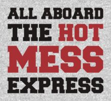 All aboard the hot mess express - black and red by moonshine and lollipops