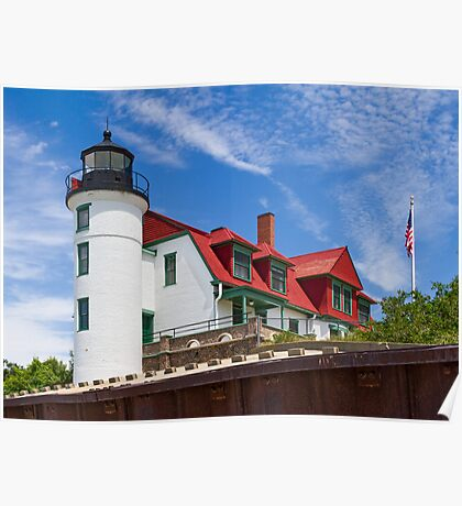 Point Betsie Light Poster
