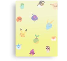 chibi pokemon - yellow Canvas Print
