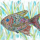 Mosaic Fish I by SharonAHenson