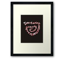Time Is A Flat Circle Framed Print