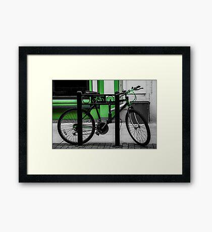Bike Stop Framed Print