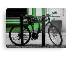 Bike Stop Metal Print