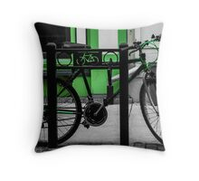 Bike Stop Throw Pillow