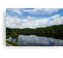 Calm Lake, Turbulent Sky Canvas Print