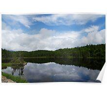 Calm Lake, Turbulent Sky Poster