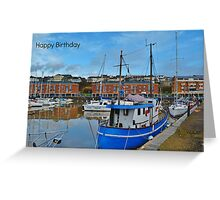 Milford Marina Birthday Card Greeting Card