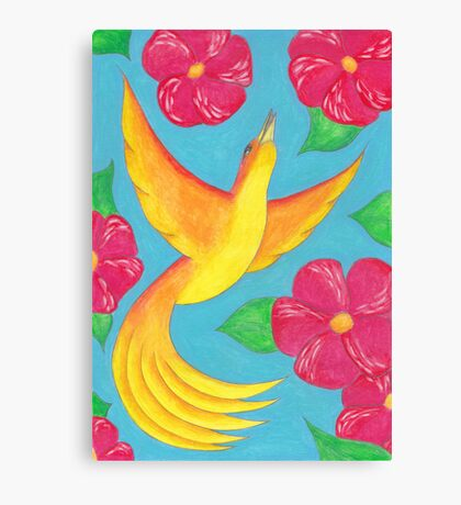 Summer coloured flowers Canvas Print