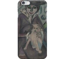ERNST LUDWIG KIRCHNER, ), WOMAN WITH DOG iPhone Case/Skin