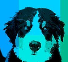 Bernese!  Pop art style. by TheJill