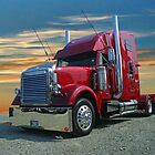 Freightliner in the Sunset by rharrisphotos