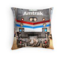 Amtrak Throw Pillow
