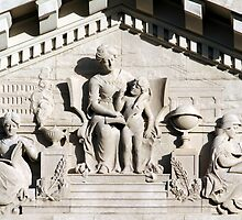 Pediment of Chatham Academy by Carol Bailey White