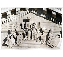 Pediment of Chatham Academy Poster