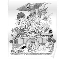 twitch plays pokemon red; the adventure remains! (black and white) Poster