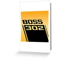 1970 Ford Mustang Boss 302 Greeting Card