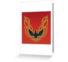 1978 Pontiac Firebird Trans Am (Mayan Red) Greeting Card