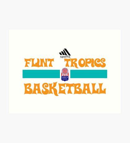 Flint Tropics Basketball Semi Pro Art Print