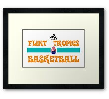 Flint Tropics Basketball Semi Pro Framed Print