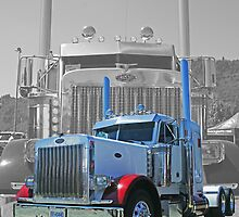 OldSkool Peterbilt Double Exposure by rharrisphotos