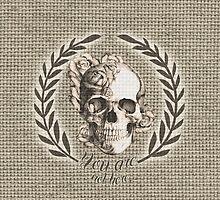 Not here Skull Crest by KristyPatterson