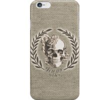 Not here Skull Crest iPhone Case/Skin
