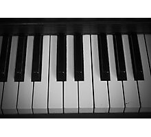 Keys Of Black and White  Photographic Print