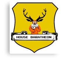 House Baratheon 8-bit Emblem Canvas Print