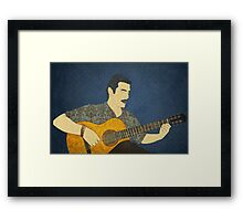 Classical guitar player Framed Print