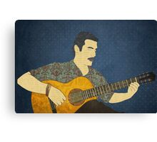 Classical guitar player Canvas Print