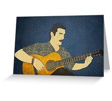 Classical guitar player Greeting Card